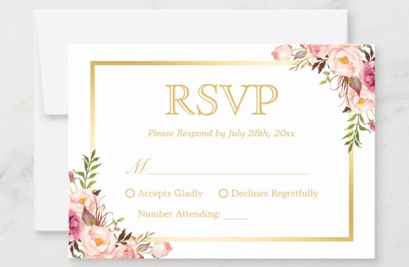 Rsvp Online Wording Awesome Wedding Rsvp Wording Guide 2019 Line Traditional