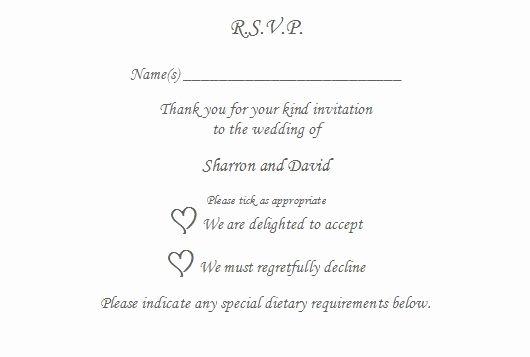 Rsvp Online Wording Luxury 10 X Rsvp Reply Card Personalised Wedding Christening