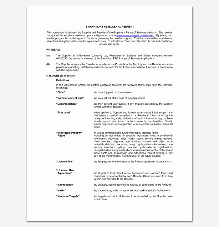 Saas Reseller Agreement Template Inspirational Saas Reseller Agreement Template