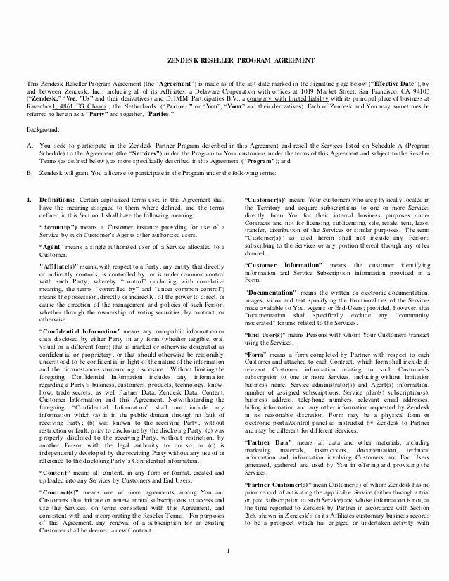 zendesk reseller agreement worldwide templatedec1143