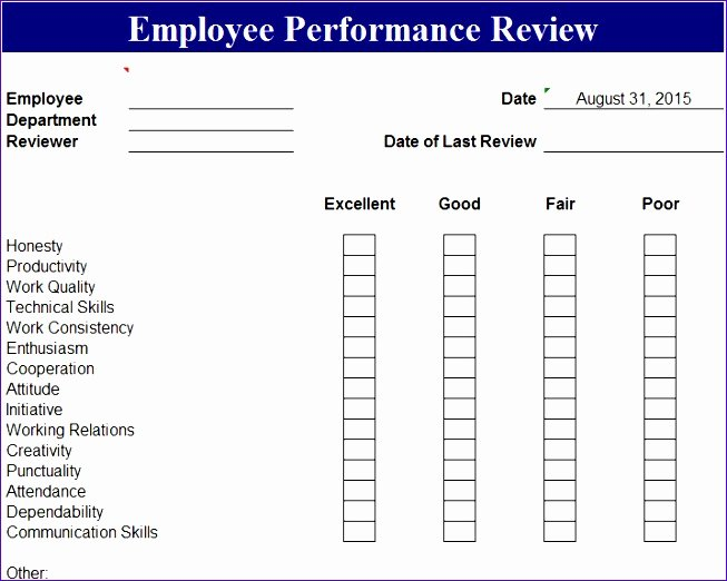 Sales associate Performance Review Examples Beautiful 5 Employee Performance Scorecard Template Excel