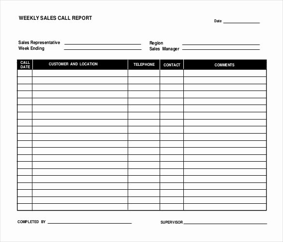 Sales Call Sheet Template Free Luxury 12 Sales Report Templates Docs Pages Pdf Word