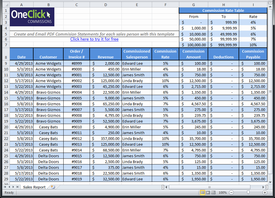 Sales Compensation Plan Template Excel Beautiful Free Excel Templates for Payroll Sales Mission