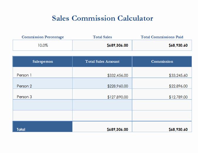 Sales Compensation Plan Template Excel Beautiful Sales Mission Calculator