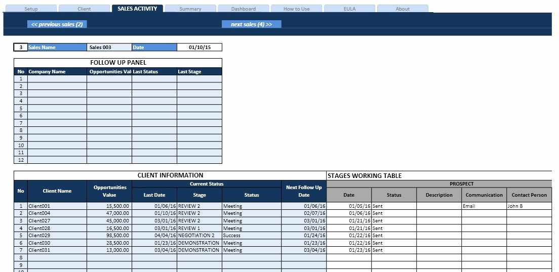 Sales Pipeline Template Excel Beautiful Sales Task List and Pipeline Manager