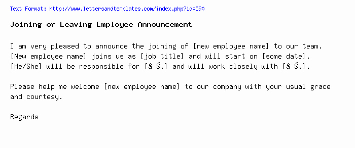 Sample Announcement Of Employee Leaving Best Of Joining or Leaving Employee Announcement