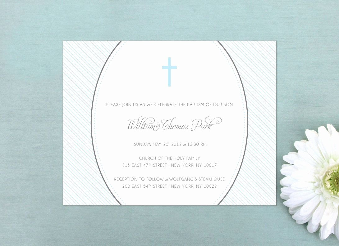 Sample Baptismal Invitations Fresh 48 Sample Christening Invitations Sample Invitation