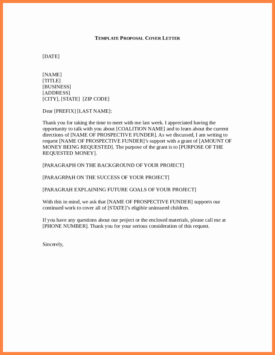 9 business proposal letter