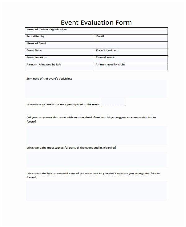 Sample event Evaluation form Elegant 26 Sample event Evaluation forms