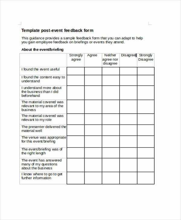 Sample event Evaluation form Lovely 17 Sample event Feedback forms