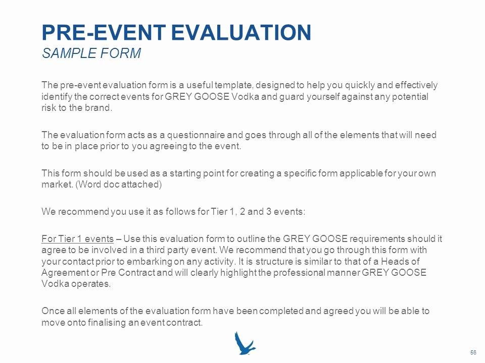 Sample event Evaluation form Unique Grey Goose Vodka Local Market event Resource Book Ppt