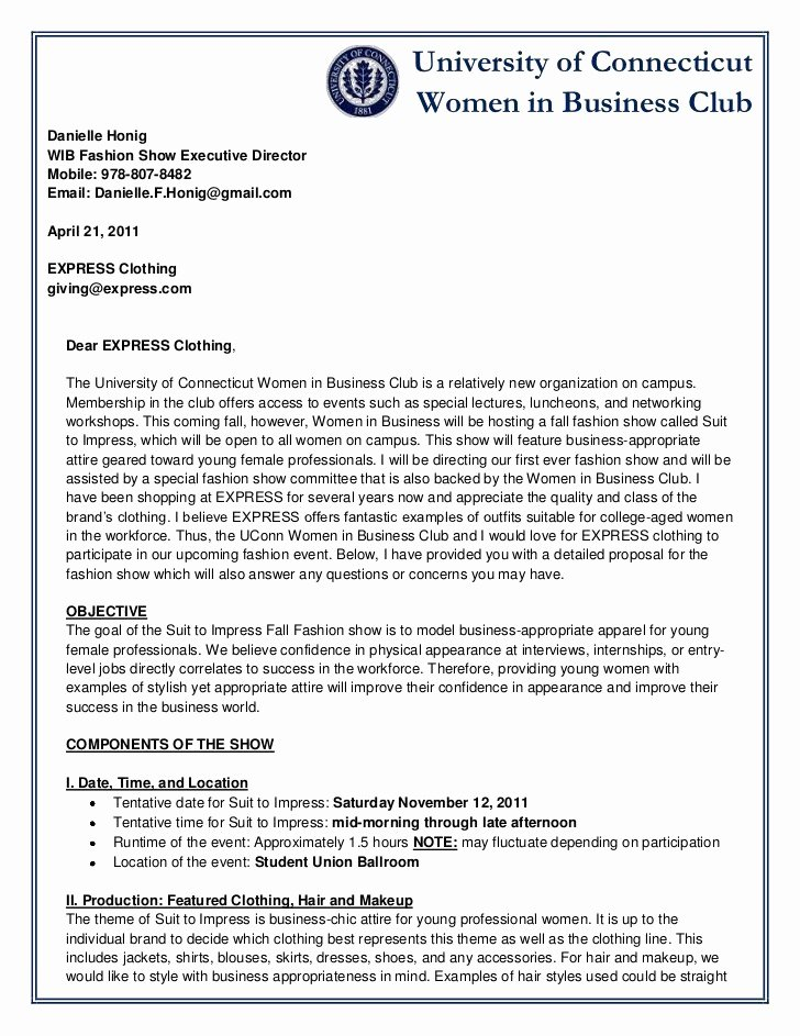 6 sample business proposal letters
