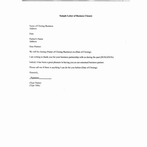 Sample Letter to Close Bank Account Best Of Free Sample Letter Of Business Closure for Your Partners