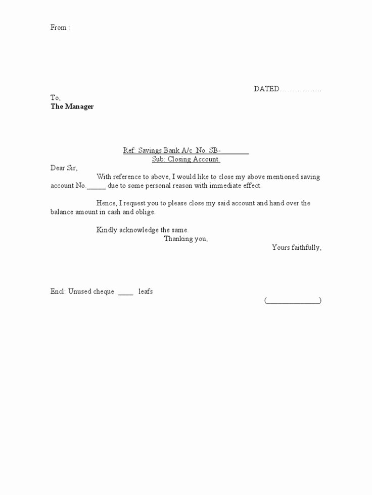 Sample Letter to Close Bank Account Fresh the 25 Best Letter format Sample Ideas On Pinterest