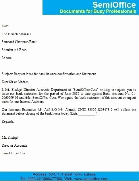 Sample Letter to Close Bank Account Unique Bank Balance Confirmation Letter Sample