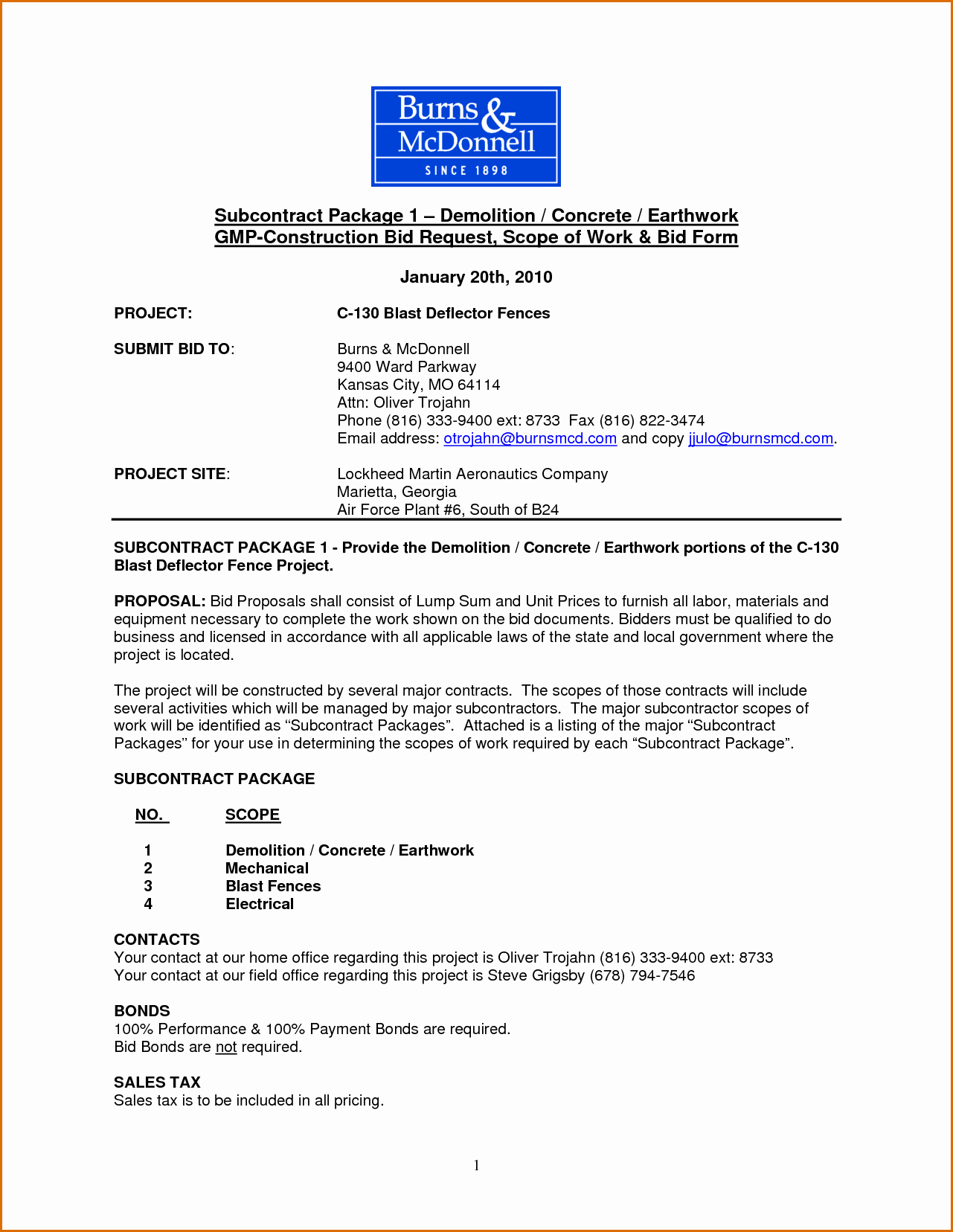 Sample Scopes Of Work Best Of 11 Construction Scope Of Work Template
