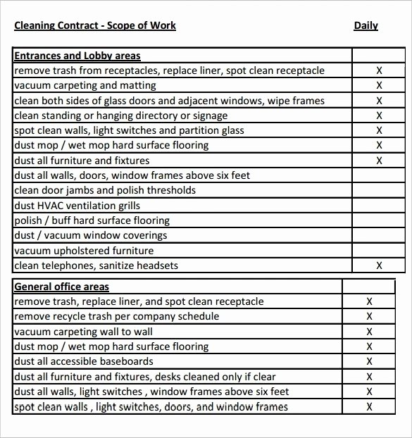 Sample Scopes Of Work Inspirational Scope Of Work Template 36 Free Word Pdf Documents