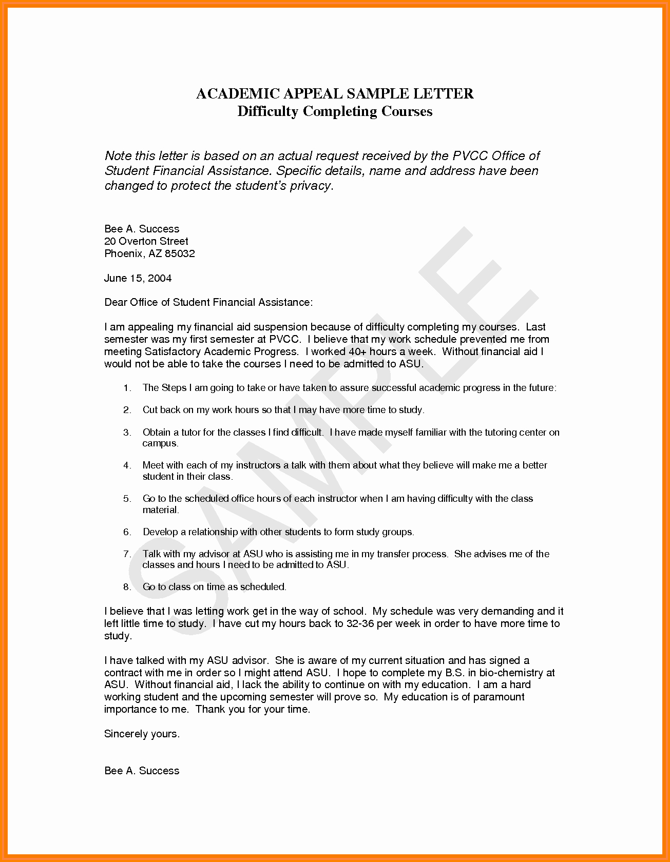 Sap Appeal Letter Example Fresh 13 Financial Aid Appeal Essay Examples