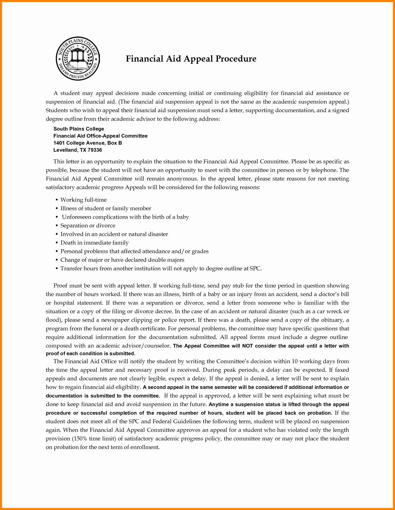 Sap Appeal Letter Example Fresh Financial Aid Appeal Letter