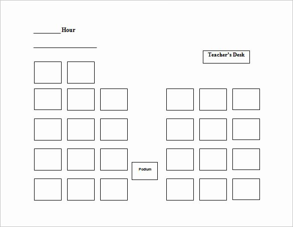 Seating Chart Template Word Awesome Seating Chart Template 9 Free Word Excel Pdf format
