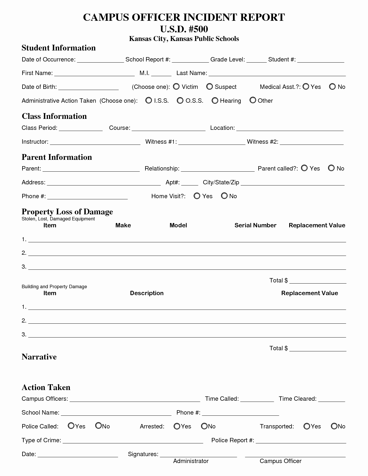 Security Report Example Unique Best S Of Security Guard Incident Report form