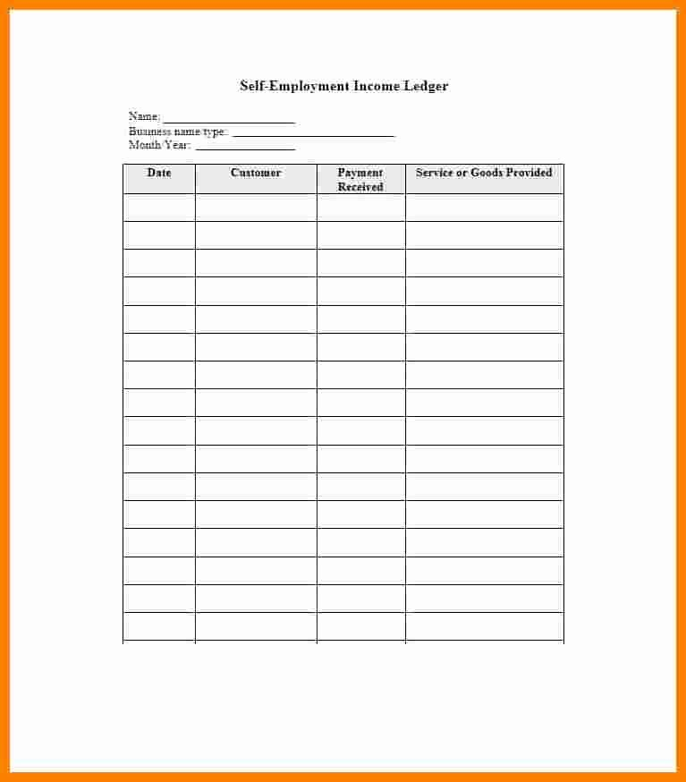 9 self employed ledger template