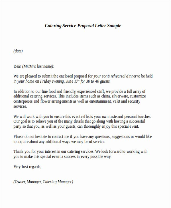 Service Offering Letter Awesome Sample Service Proposal Letter 9 Examples In Word Pdf