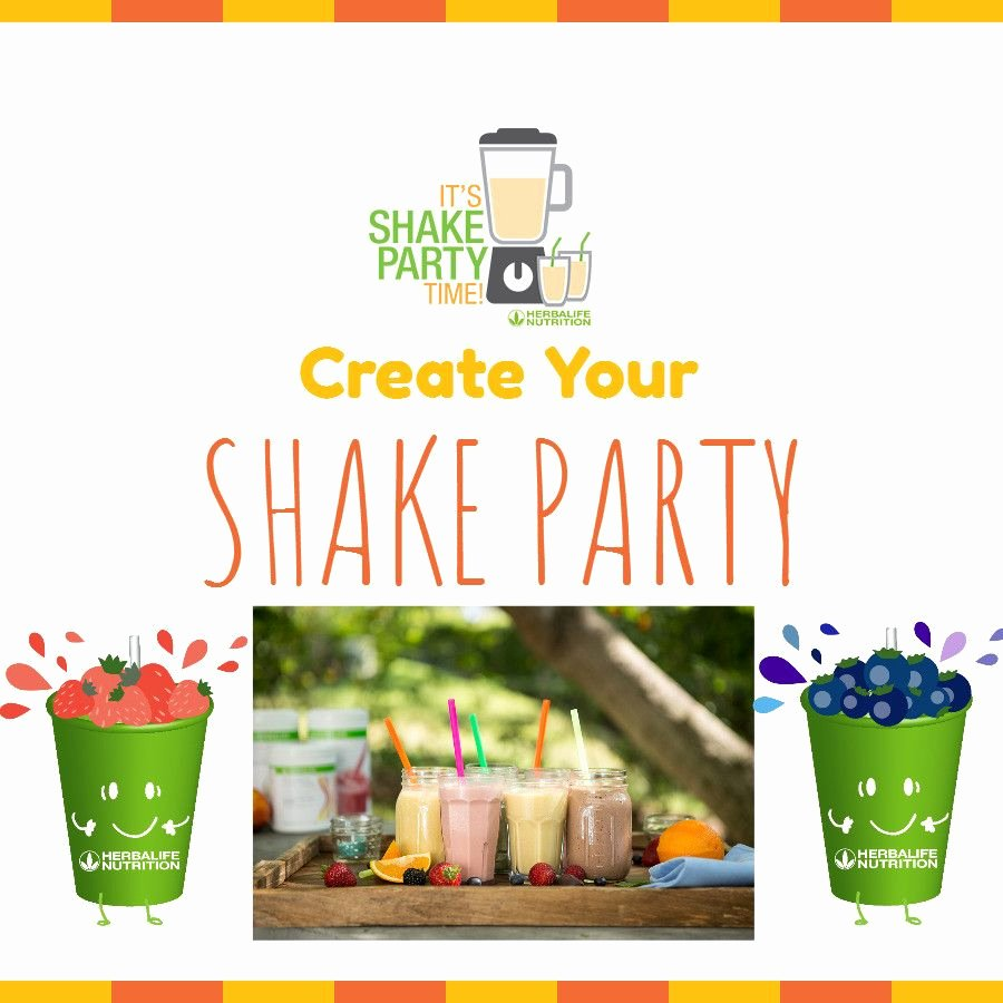 Shake Party Herbalife Unique Be E A Herbalife Member Creat A Shake Party Invite