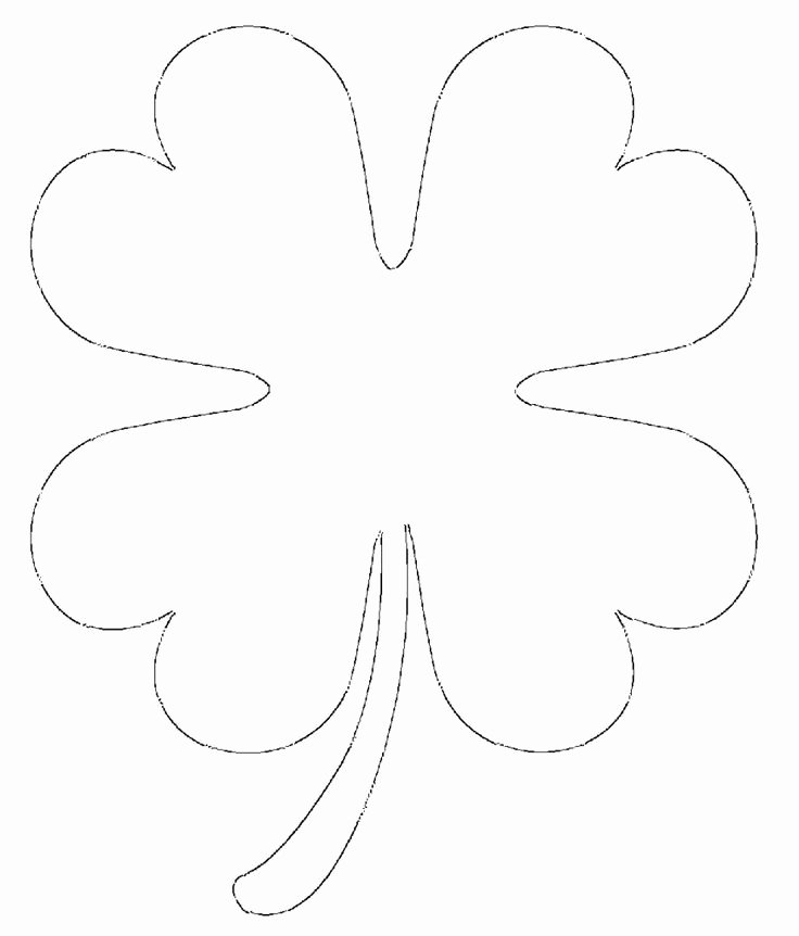Shape Templates to Cut Out Awesome Free Printable Four Leaf Clover Templates – & Small
