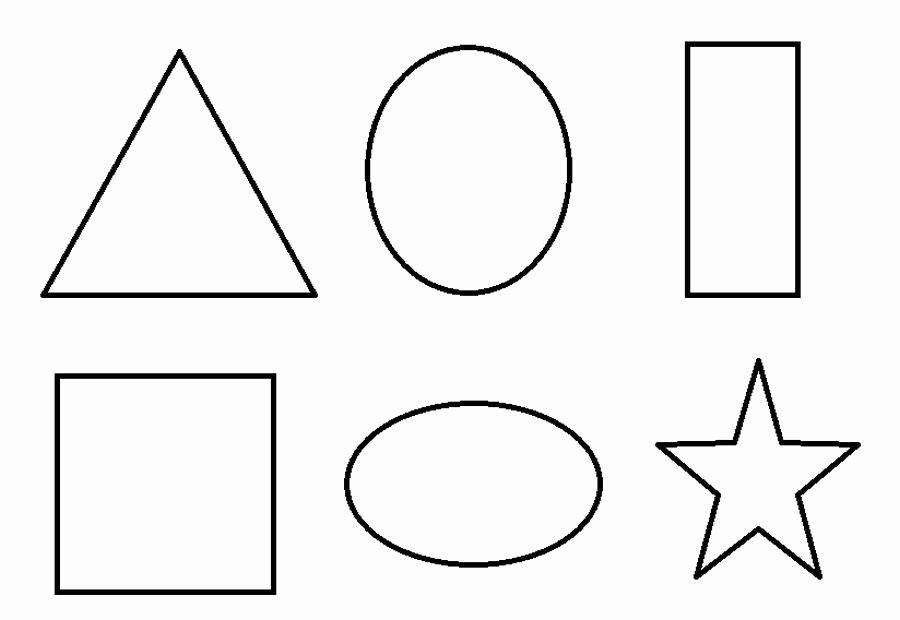 Shape Templates to Cut Out Beautiful Geometric 2d Shapes Coloring Pages to Print