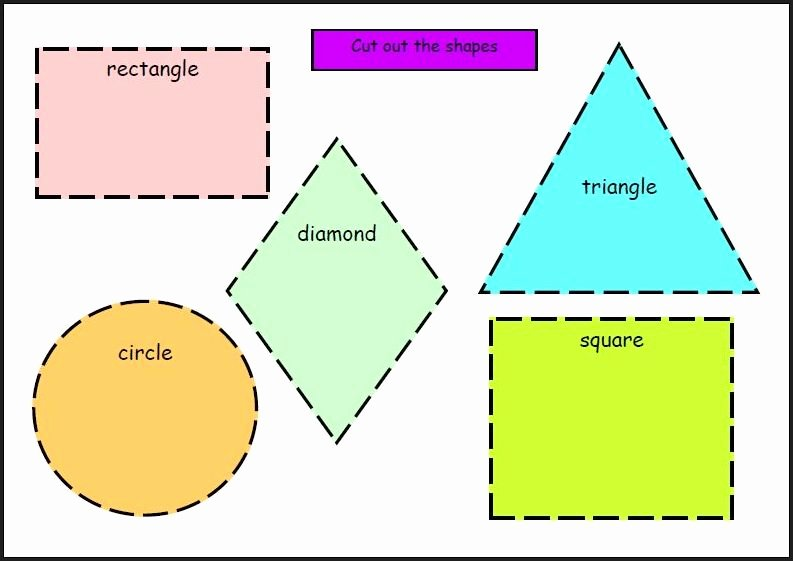 Shape Templates to Cut Out New Chsh Teach Shapes Learning Basic Shapes