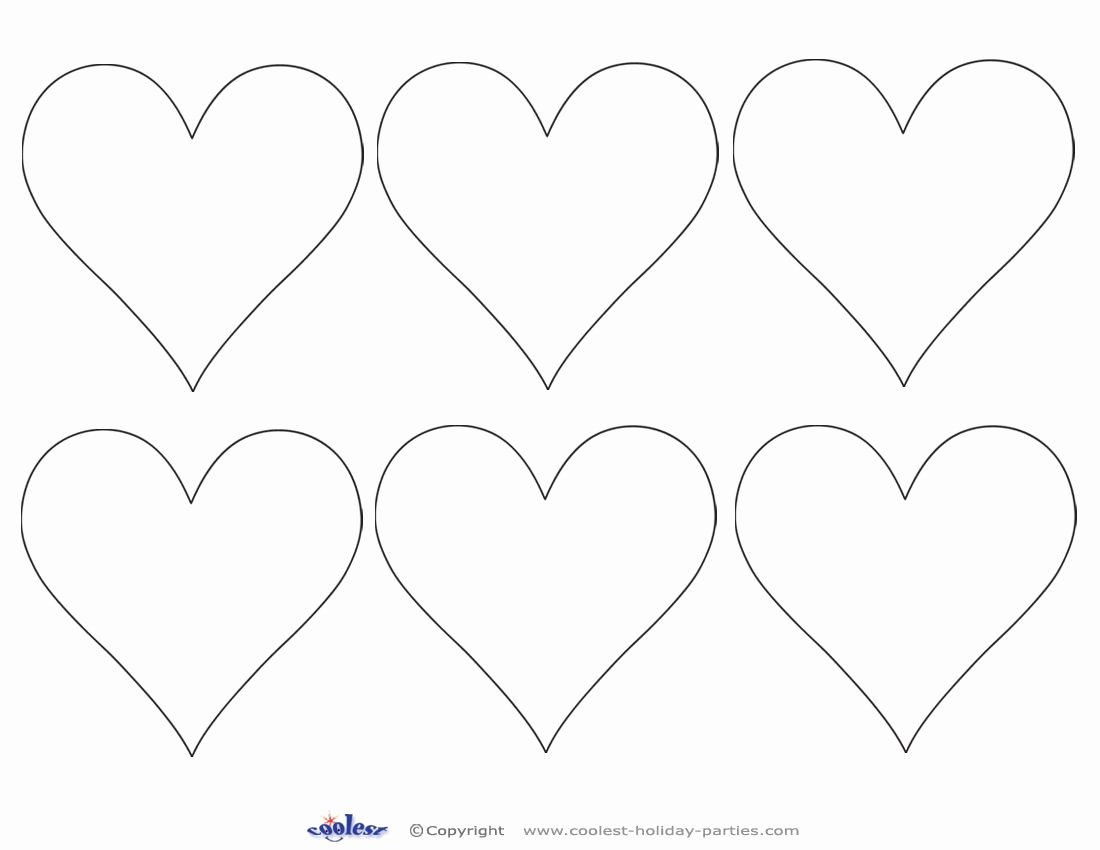 Shape Templates to Cut Out Unique Heart Shapes to Print and Cut Out