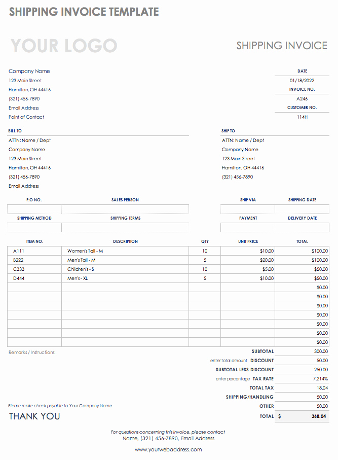 Shipping Manifest Template Excel Awesome Free Shipping and Packing Templates
