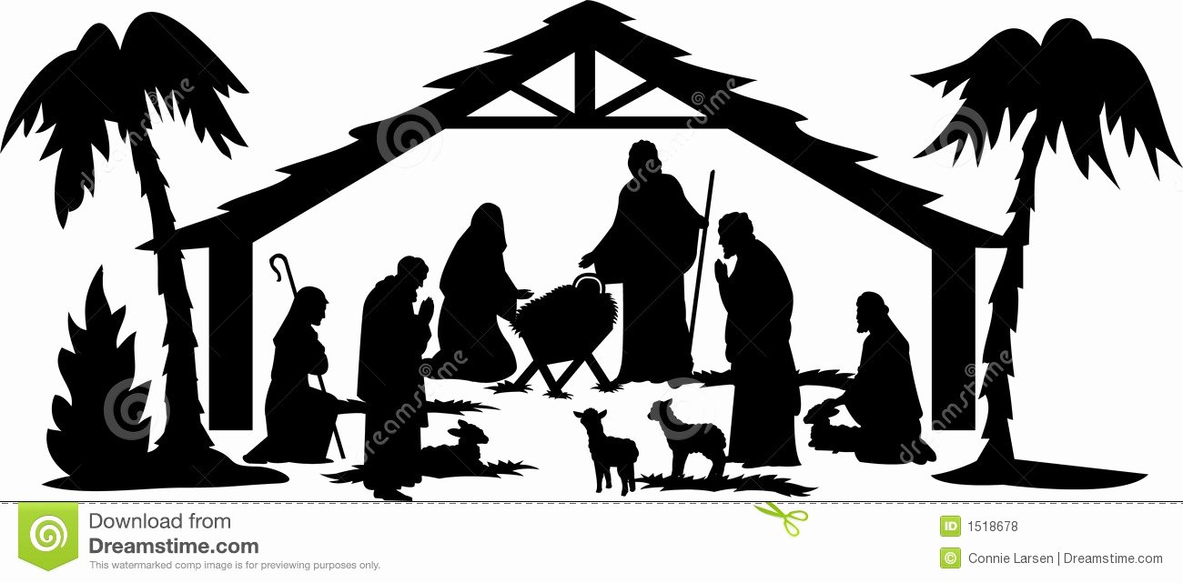 Silhouette Nativity Scene Pattern Fresh Nativity Silhouette Patterns at Getdrawings