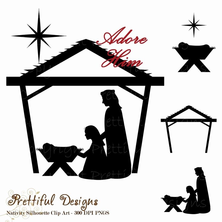 Silhouette Nativity Scene Pattern Luxury Free Silhoutte Nativity Scene Patterns