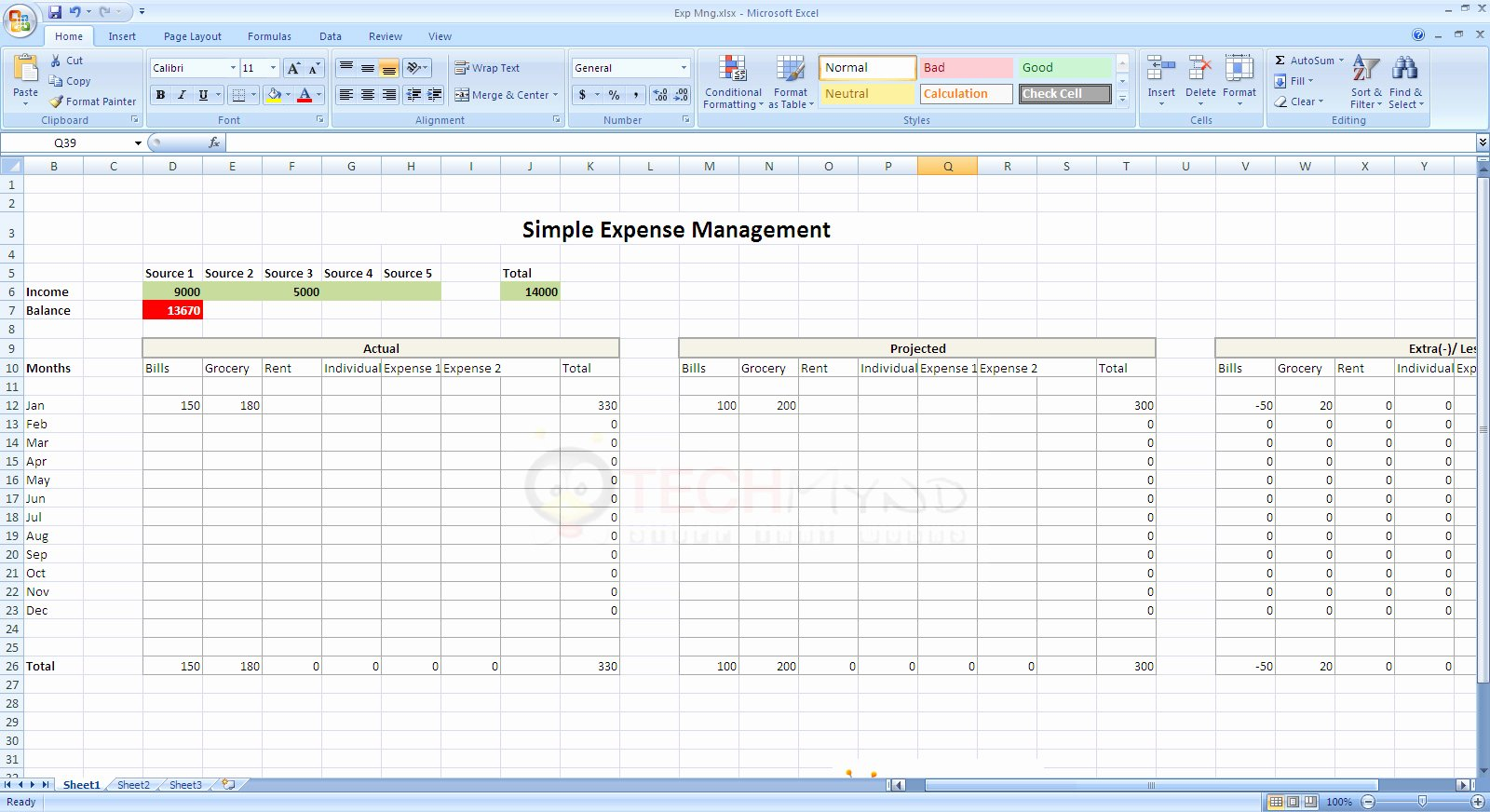 Simple Income and Expense Template Lovely In E and Expenditure Spreadsheet Template