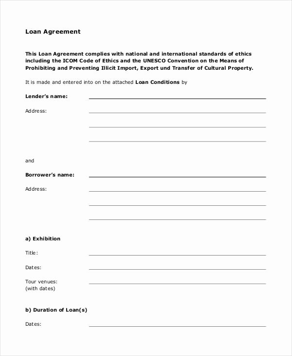 Simple Loan Application form Template Beautiful Loan Agreement form 14 Free Pdf Documents Download