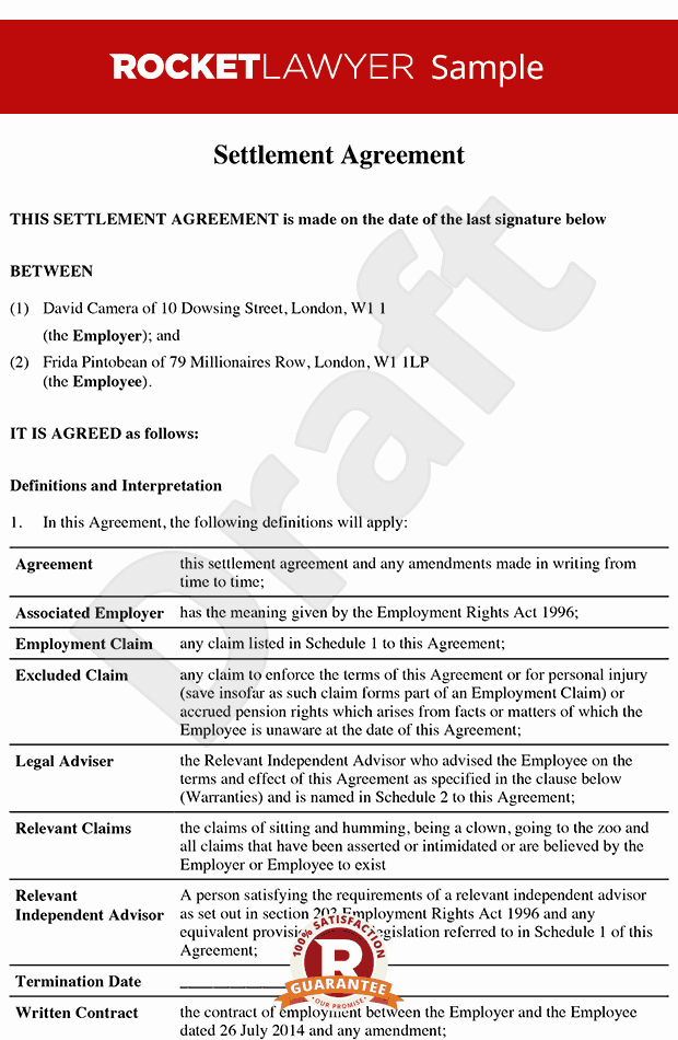 Simple Settlement Agreement Unique Settlement Agreement formerly Promise Agreement