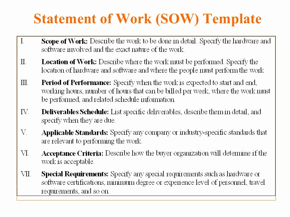 Simple Statement Of Work Template Beautiful 5 Free Statement Work Templates Word Excel Pdf