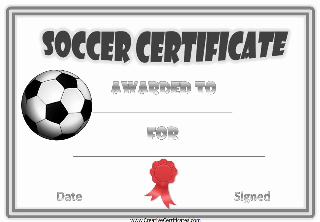 Soccer Awards Template Luxury 13 soccer Award Certificate Examples Pdf Psd Ai