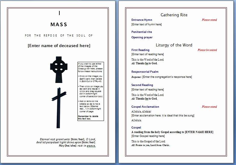 Souvenir Booklet Template Microsoft Word Beautiful Free Funeral Program Template – Microsoft Word Templates