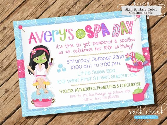 Spa Day Invitation Best Of Spa Day Invitation Spa Birthday Party Girls Spa Party
