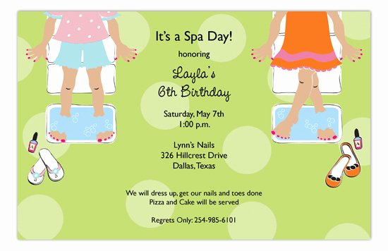 Spa Day Invitation Best Of Sweet Spa Day Invitation