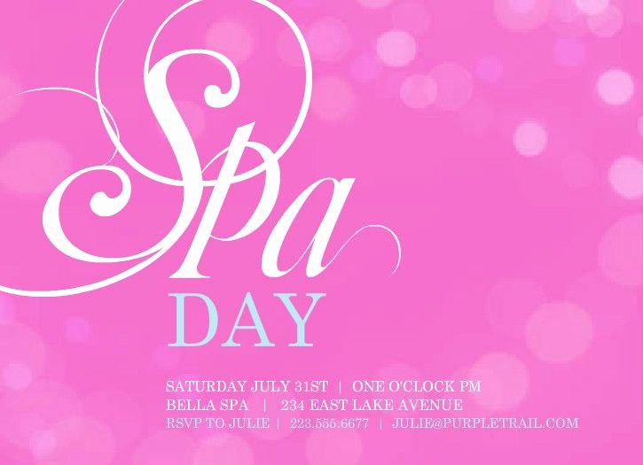 Spa Day Invitation Fresh 45 Best Spa Party Images On Pinterest