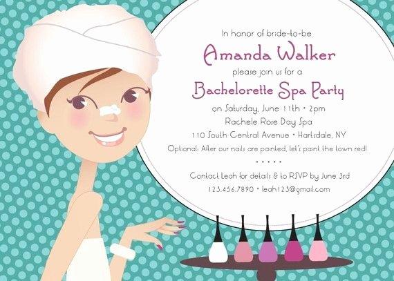 "Spa Day Invitation Inspirational ""spa Day"" Bridal Shower Bachelorette Party Invitation by"