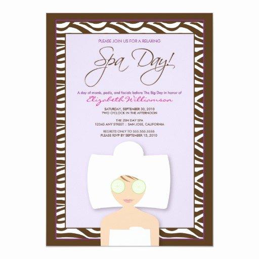 Spa Day Invitation Inspirational Spa Day Bridal Shower Invitation Lavender