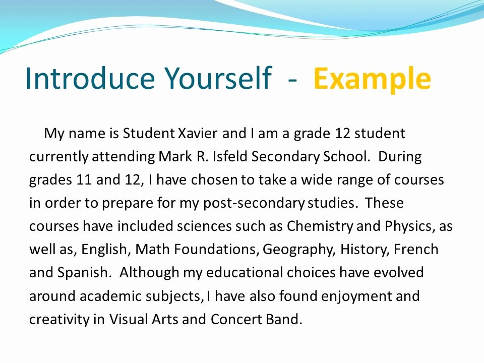 Spanish Essay About Yourself Elegant Letter Of Introduction & Personal Statement Ppt Video