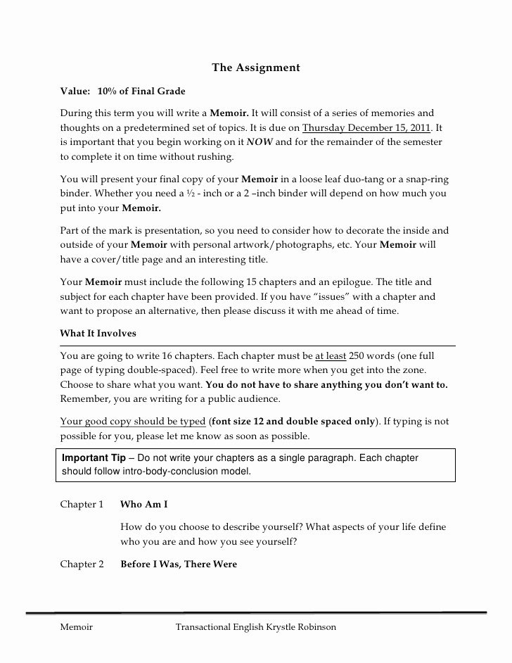 Spanish Essay About Yourself Luxury Memoir assignment