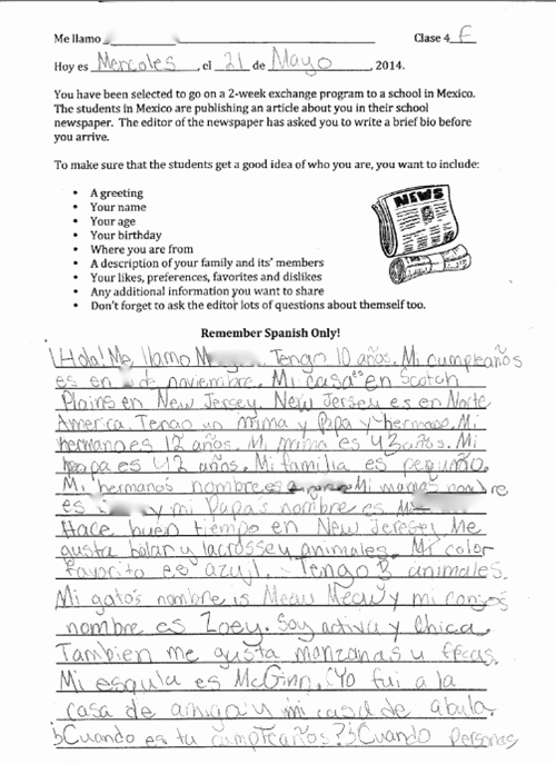 Spanish Essay About Yourself New Book Report Projects Value Pack Unique Teaching