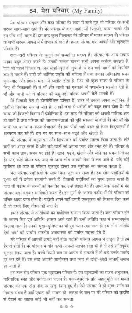 Spanish Essays About Family Unique Essay On My Family In Hindi